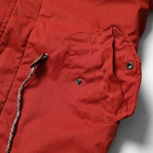 Image 3 - Мужская теплая длинная куртка SIMWOOD, модная толстая повседневная парка, брендовая одежда высокого качества, новая модель MF950