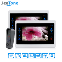 JeaTone 7 Inch 1 To 2 Color Video Door Phone Intercom Door Bell Door Speaker Hands