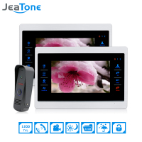 JeaTone 7 Inch 1 To 2 Color Video Door Phone Intercom Door Bell Door Speaker Hands