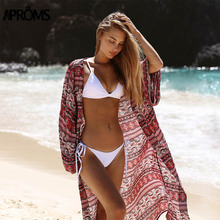 Aproms Gypsy Ethnic Floral Print Kimonos Summer Beach Lounge Wear