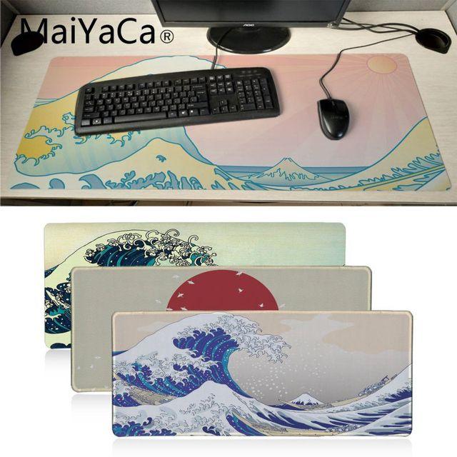 Best Offers Maiyaca Beautiful Anime Waves Drawing Art Lock Edge Speed Control Laptop Keyboard Mat Gaming