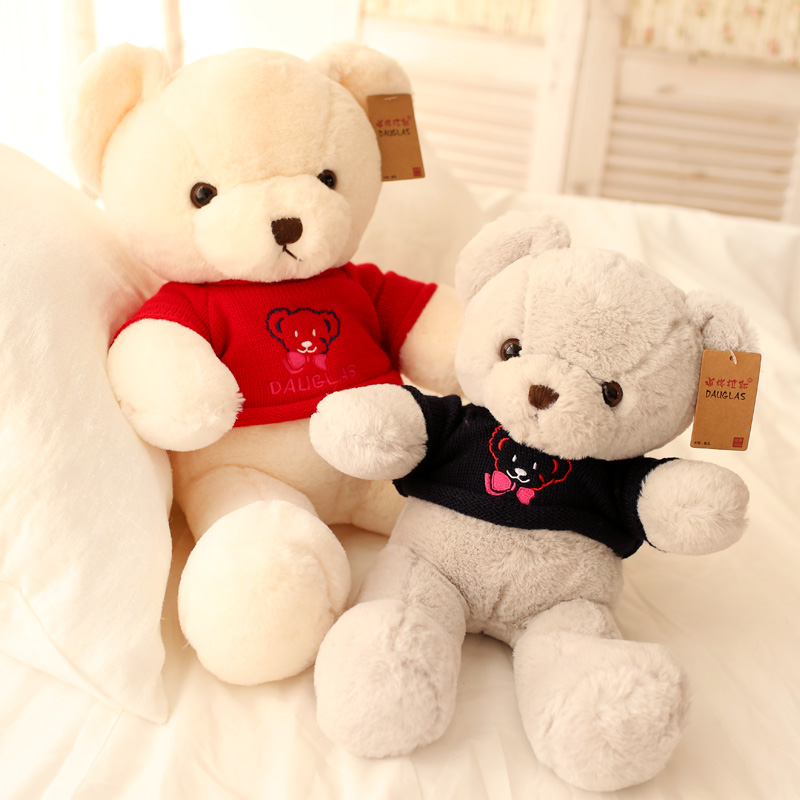 Gift for baby 1pc 42cm cartoon sweater teddy bear soft sweet plush hold doll pillow novelty romantic stuffed toy