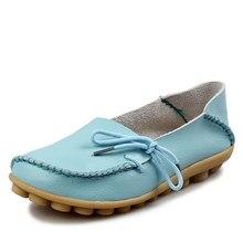 b8cd094b5 Novas Mulheres de Couro Reais Sapatos Mãe Mocassins Mocassins Macios  Apartamentos de Lazer Feminino Condução Calçados