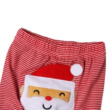 Autumn Newborn Santa Claus Tops Baby Boys Girls Romper Playsuit + Long Pants Clothes Outfits Christmas Sets