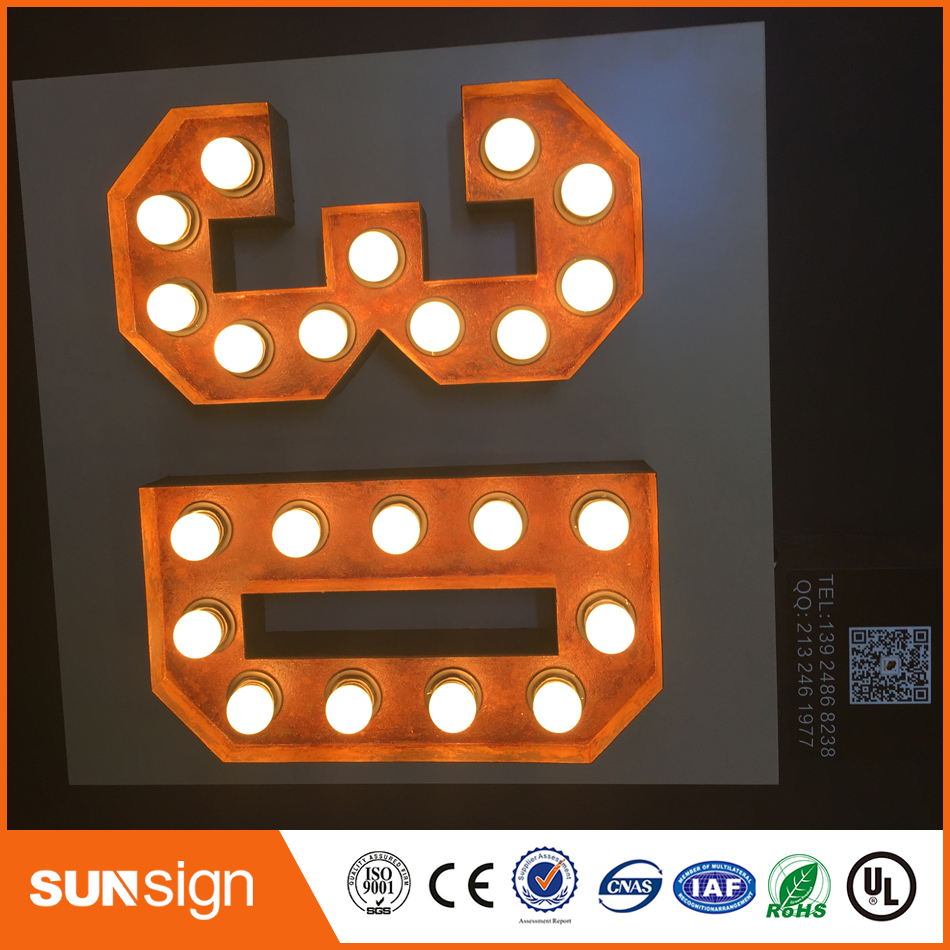 Acrylic Faces Plexiglass 3D Lighted Letters