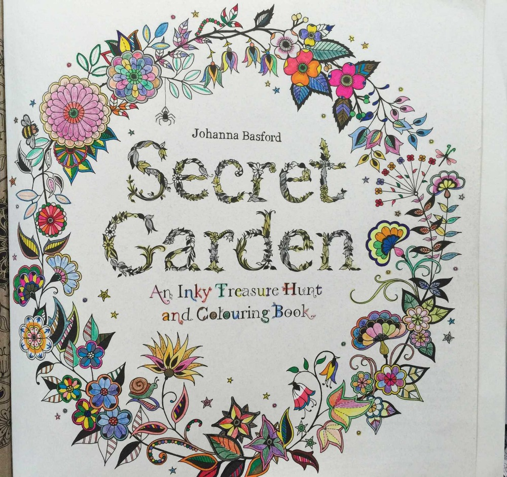 Secret Garden An Inky Treasure Hunt And Coloring Book For Children Adult Relieve Stress Kill Time Graffiti Painting Drawing In Books From Office
