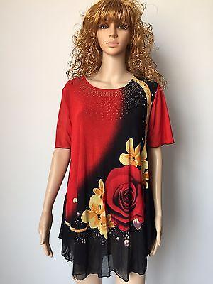 Dámské košile Pletený potisk s krátkým rukávem Dámské sukně 3XL