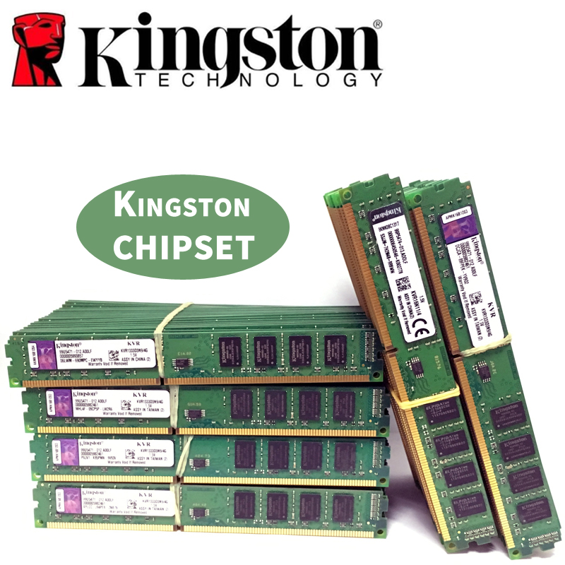 Kingston Ram DDR3 2GB 4GB PC3 1600 Memória de Desktop 1333 MHz 240pin 8 4 2G G G 1333mhz 1600mhz 10600 12800 Módulo DIMM de MEMÓRIA RAM