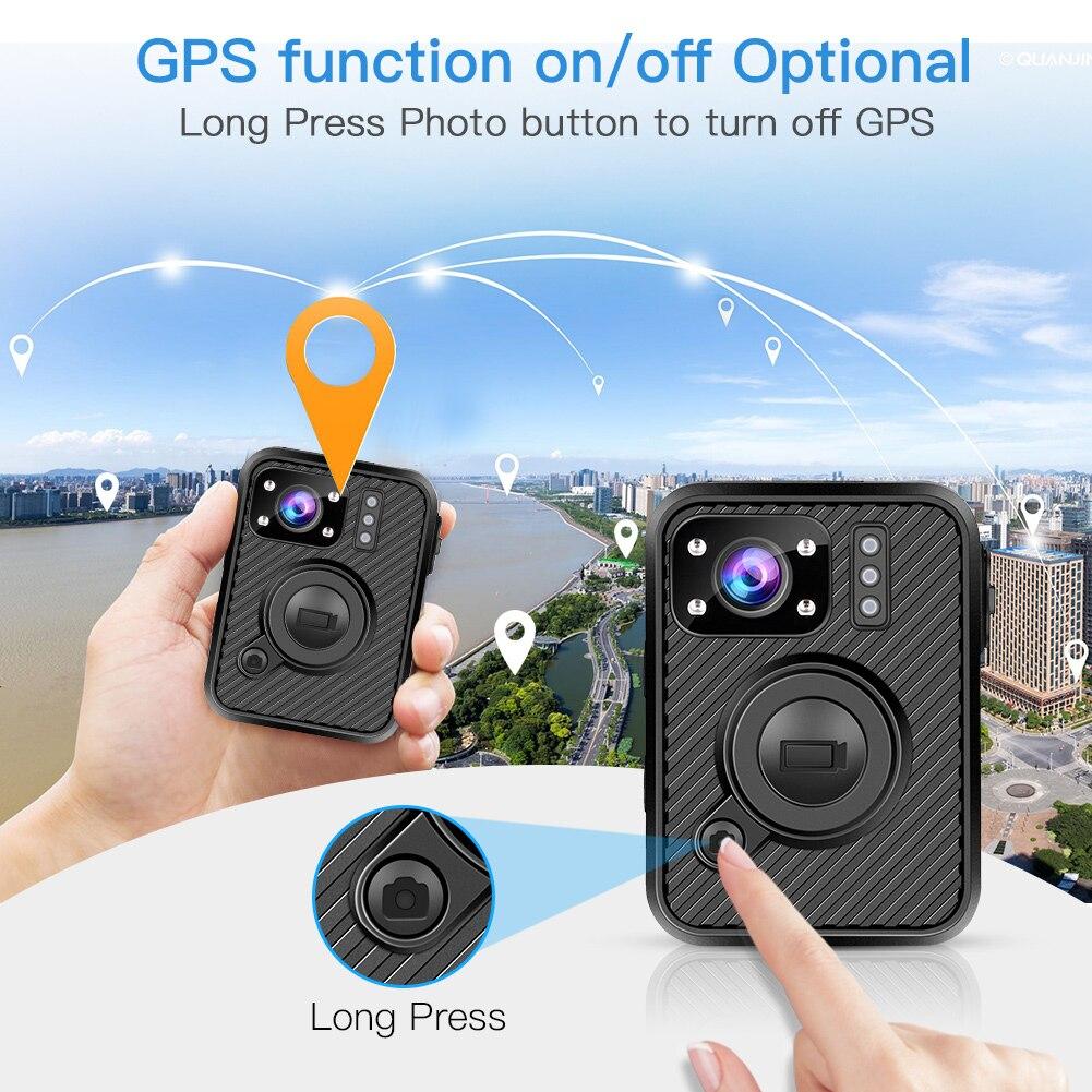 BOBLOV Wifi полицейская камера F1 32GB Body Kamera 1440P изношенная камера s для обеспечения безопасности 10H запись gps видеорегистратор с режимом ночной съемки рекордер - 3
