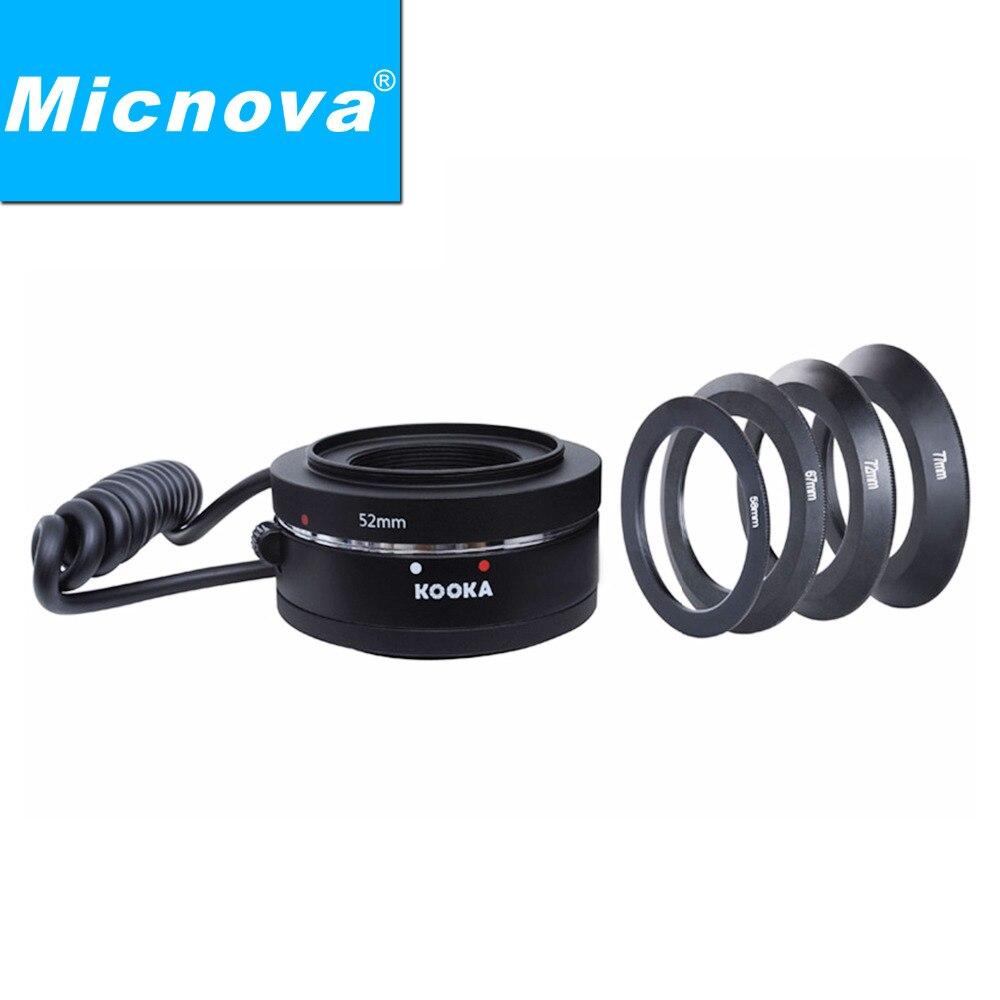 Kit d'anneaux de caméra Micnova KOOKA KK-MRA5CA adaptateur d'inversion Macro pour Canon EF/EFs adaptateur d'inversion de montage sur les reflex numériques Canon