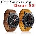 Lo nuevo de 22mm genuino reloj de cuero correa para samsung gear s3 banda para el Engranaje S3 Clásico S3 Frontera Hebilla De Metal Pulsera cinturón