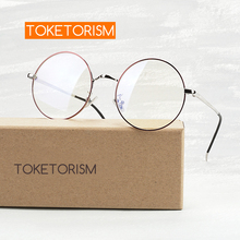 Toketorism red circles metal frame vintage round glasses woman eyeglasses prescription frames 190