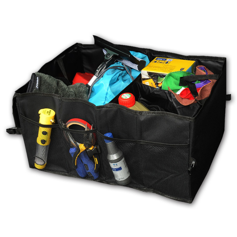 Schwarz Oxford Tuch Auto Stamm Lagerung Box Auto Organisieren Rücksitz Lagerung für Auto Lkw oder SUV, perfekte Auto Organizer für alle Fracht