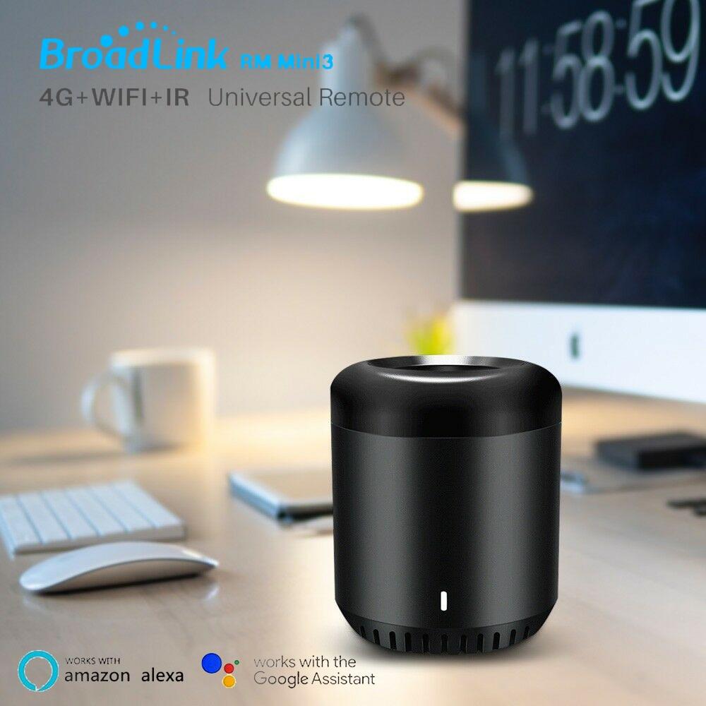 Broadlink RM Mini3 Controller Work for Alexa Google Home IFTTT APP Remote Control WiFi+IR+4G UK AU US EU Adapter