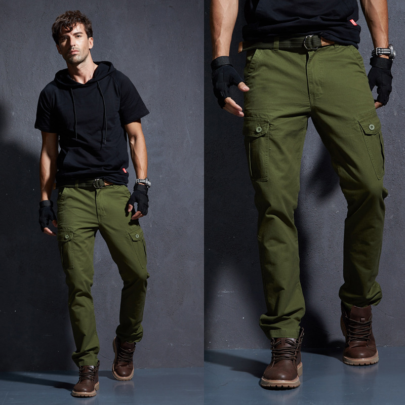 select for genuine great deals 2017 first look US $59.96 |Military Cargo Pants Men Men's Army Green Khaki Trousers Mens  Tactical Militari Baggy Pants Winter Warm Denim Jeans Pants.FA02-in Cargo  ...