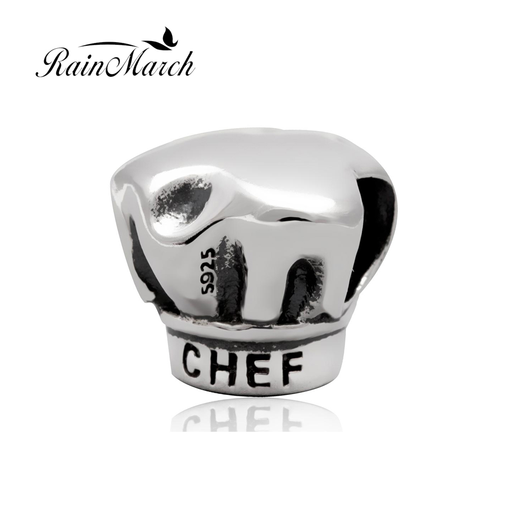 Original 925 sterling silver chef hat charms diy jewelry beads Fits for Pandora Bracelet free shipping бижутерия pandora 925 790122