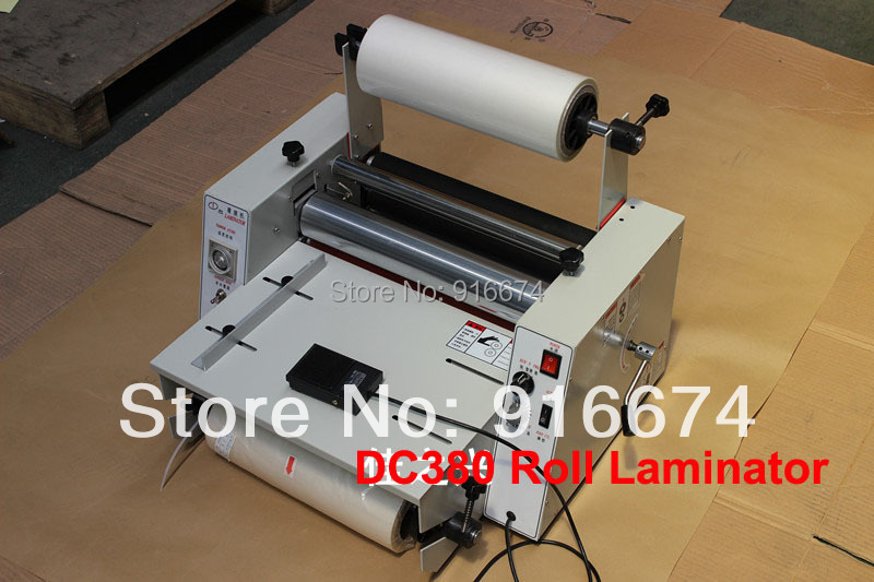 цены Fast Free Shipping DC380 HOT Single Double side Roll Laminator Pouch Laminating Machine Speed control Hot Cold