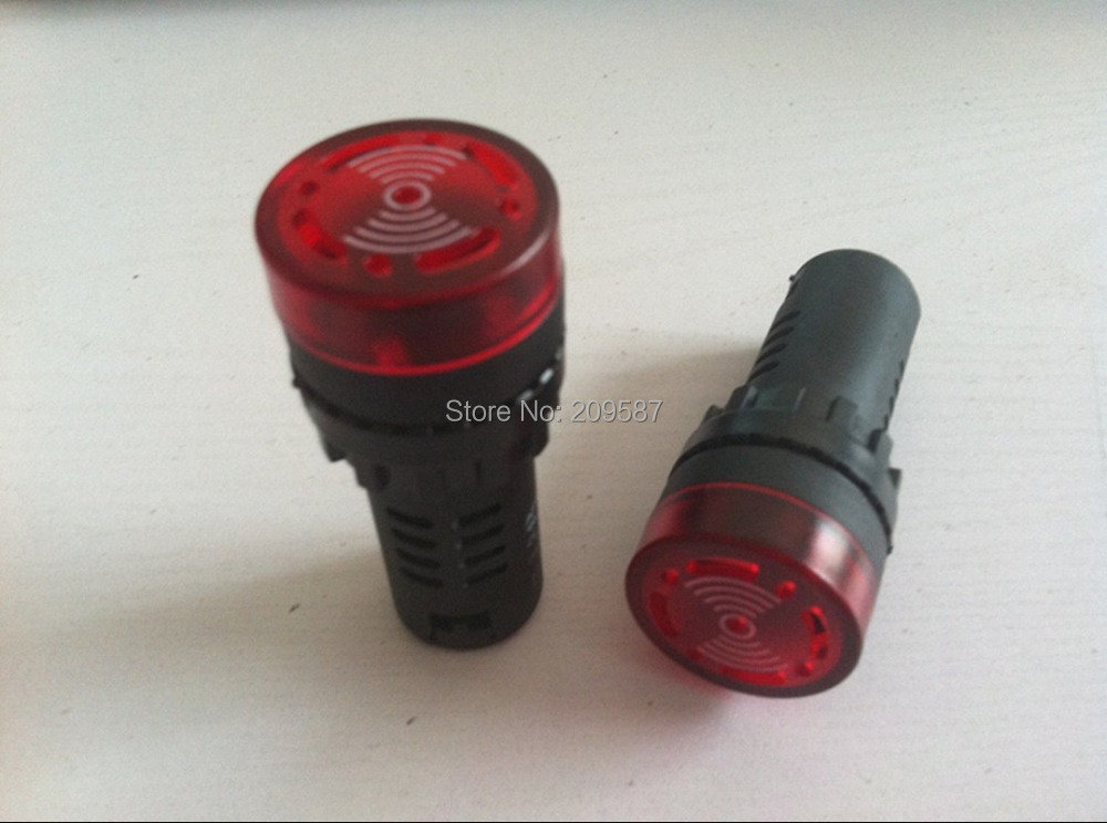 Safe Alarm AC 220 Volts Mini Siren Buzzer Light Lamp 2pcs