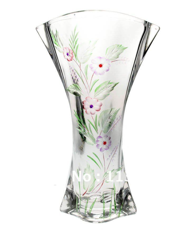 Hand Engraving Series Engraved Crystal Glass Vase Latest Design