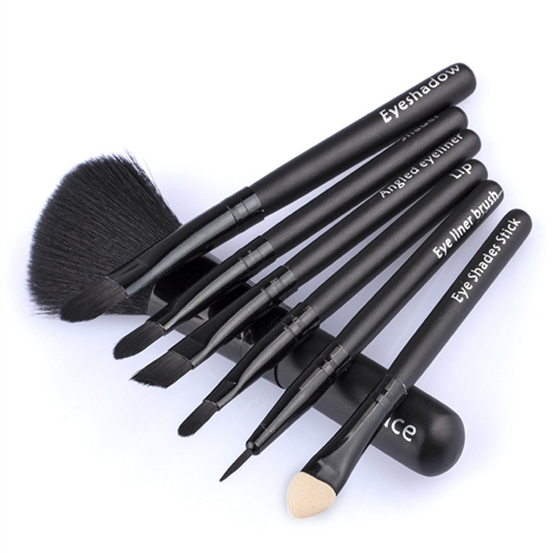 7 Pcs Mini Face Makeup Brushes Set Eyebrow Eyeshadow Eyeliner Foundation Blush Powder Cosmetic Blending Make Up Brush Kit Tools new lcbox professional 16 pcs makeup brush set kit pouch bag cosmetic brush kit cosmetic powder foundation eyeshadow brush tools
