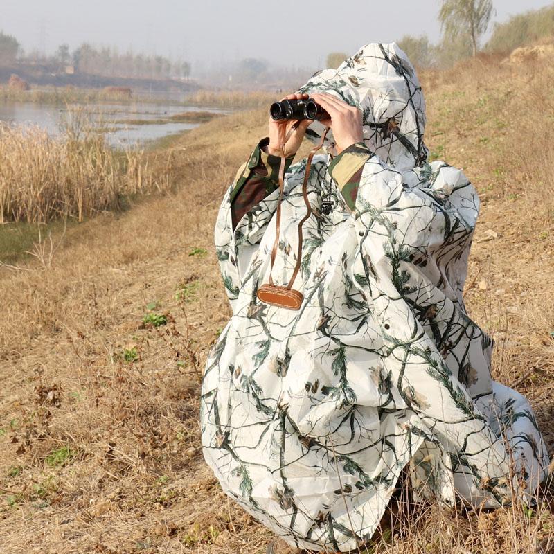 Man Woman Outdoor Rain Poncho Multi purpose Snow Camouflage Raincoat Three in one Moisture proof Mat Hiking Hunting Rain Clothes