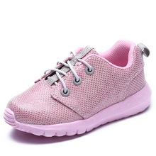 New Children Shoes Girls Boys Sport Shoes Bright Line Soft Bottom Kids Fashion Sneaker Casual Flat Aneakers Mesh Loafers Shoes