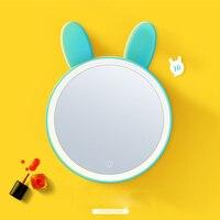 LED Очаровательное животное зеркало настольная лампа принцесса туалетный столик led Персонализированные складной портативный зеркало пригл...