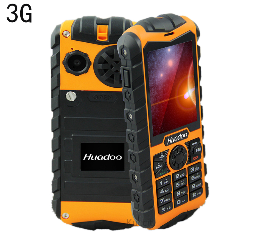 Original Huadoo H3 3G mobile tough phones Waterproof phone Senior old man IP68 military Oudoor ultra Rugged shockproof Russian