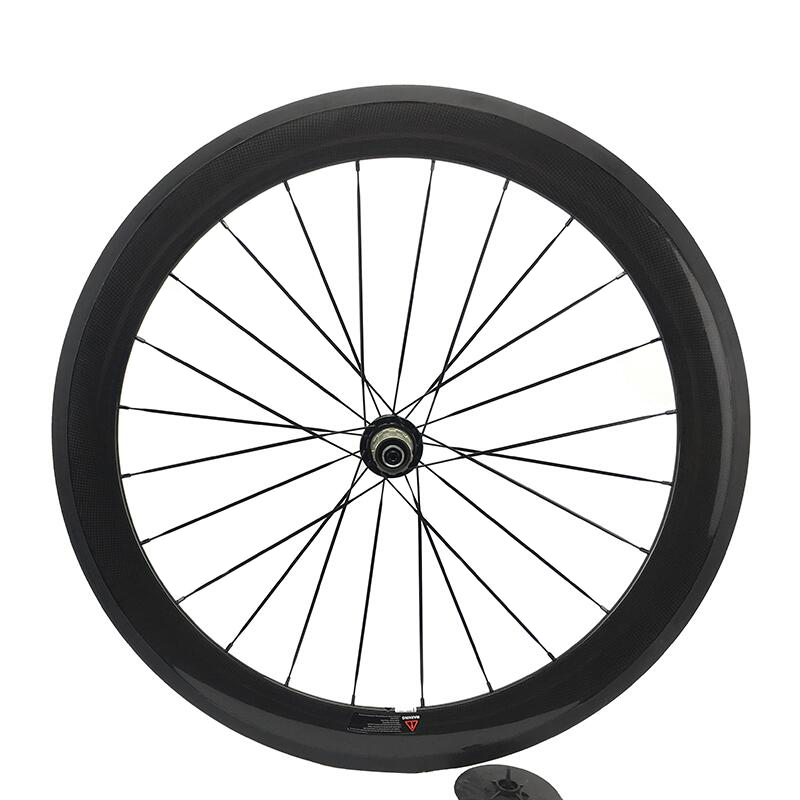 Jerry Peng 60mm Carbon Road Bike Wheel Clincher Rear /Back Wheel Only 20.5mm Width 700C on Sale Back Wheel for Sh1ma or CP speed 1set front and rear 700c road bike wheel bicycle magnesium alloy three spokes parts integrated wheel fixed gear single speed