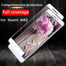 Silk Printing Full Covered Glass Tempered For Xiaomi MAX Screen Protector 9 H Protective Film Cover For xiaomi max
