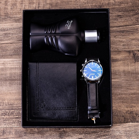 Man Gift Set Beautifully Wrapped Watch + Wallet Set Cool Creative Combination Of Foreign Trade Watch Set