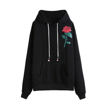 Harajuku Autumn Winter Women Sweatshirt Long Sleeve Flower Print hoodies Pullover kawaii hoodie sweatshirt women colthing(China)