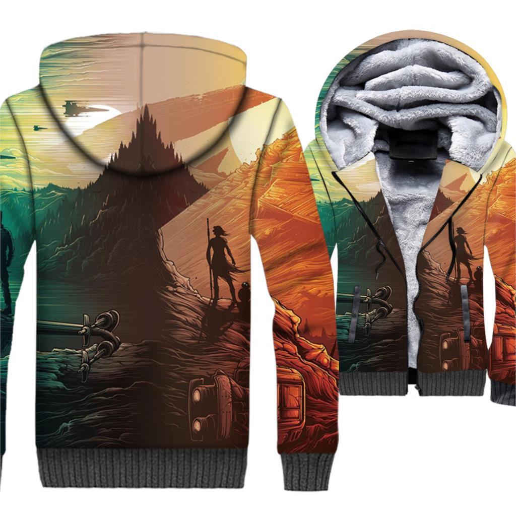 New Men 39 s Sportswear Autumn Winter Zip Jackets STAR WARS 3D Sweatshirts For Men 2018 Hip Hop Hoodies Fit M 5XL Streetwear Hoody in Hoodies amp Sweatshirts from Men 39 s Clothing