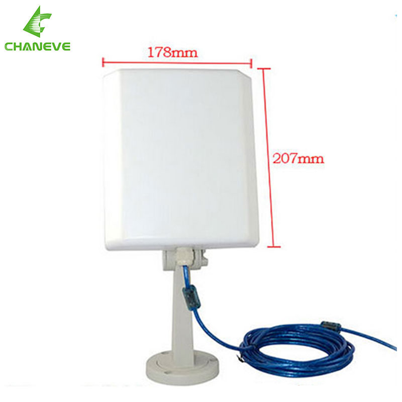 RT3070 Long Range Outdoor High Power Wifi USB Adapter 36dBi Panel Directional antenna CE NT800