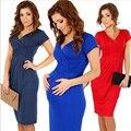 Vestidos de maternidad de maternidad elegante vestido de noche del partido caliente 8 colores para las mujeres embarazadas vestidos de manga corta