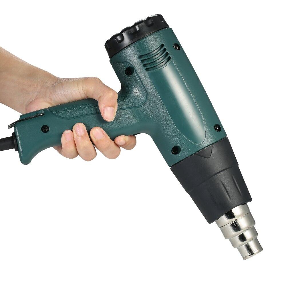 Temperature-controlled Electric Hot Air Gun Heat Gun Tool Set with 4pcs Nozzles 1800W AC110V authenticate heat gun mini electric tool with adjustable temperature plastic welding hot air gun hp700b