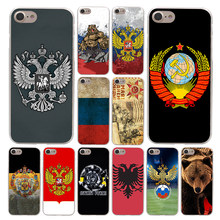 Lavaza Flag Russian bear eagle Phone Case for Apple iPhone 4 4S 5C 5S SE 6 6S 7 8 Plus 10 X Xr Xs Max 6Plus 7Plus(China)