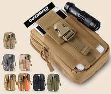 QM Universal Outdoor Sport Tactical Bag  Waist Nags 5.5/6 Inches Waterproof Phone Cases 600D Oxford Pouch