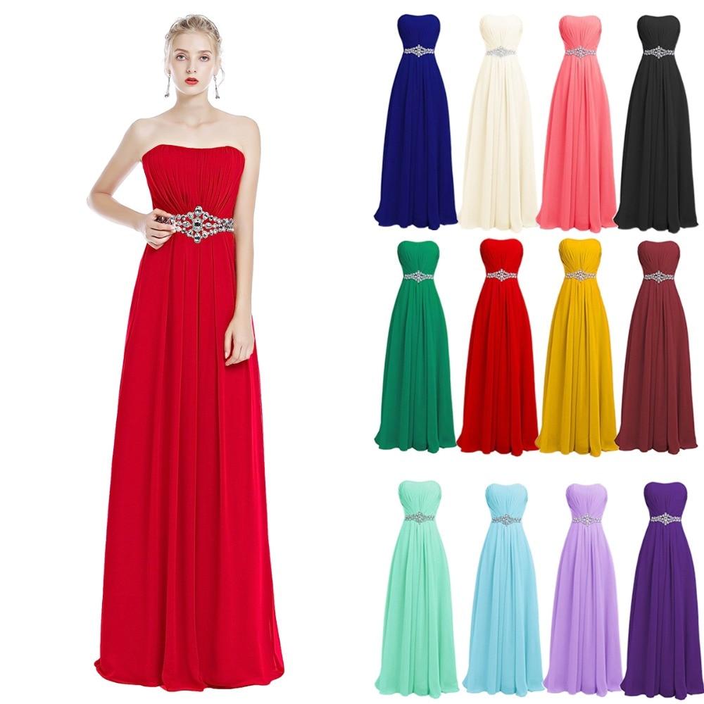 2019 nouvelle mode femmes mariage demoiselle d'honneur robes de soirée d'été Sexy sans bretelles taille haute Maxi longue robe en mousseline de soie robe élégante