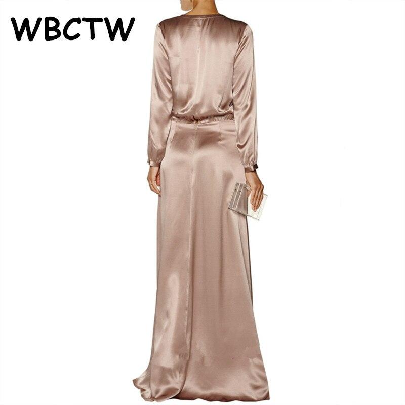 WBCTW φόρεμα σατέν μακρύ μανίκι - Γυναικείος ρουχισμός - Φωτογραφία 2