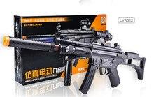 Черный Электрический Пистолет-Пулемет MP5 Пистолет Вибрации Звук Пистолет С лазерный снайпер игрушки Мальчиков игрушки косплей оружие