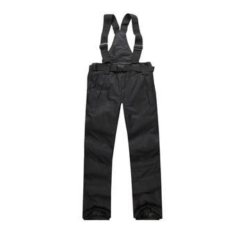 Men Ski Pants Brands 2018 New Warm Outdoor Sports Waterproof Thinken Women's Snow Trousers Suspenders Winter Snowboarding Pants 1