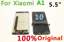 цена на Original For Xiaomi A1 display mi A1 Lcd screen Display+Touch A1 display  5.5