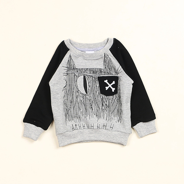 b34218b90 NEW INS spring NUNUNU TOPS children s bone print Sweater Baby Cotton ...