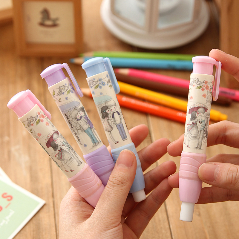 New Fashion Students Pen Shaped Eraser Rubber Stationery Kid Gift Toy Cute Pupils Supplies 1PCS/Lot