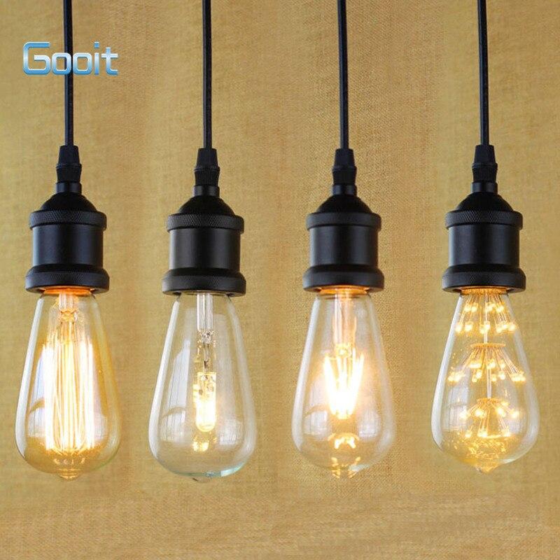 e27 light socket i shape vintage retro edison bulb pendant lamp rh sites google com Light Bulb Socket Reducer Light Bulb Y Adapter