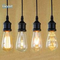 E27 Trzonek I Kształtować Rocznika Retro Edison Żarówka Lampa Wisząca Uchwyt Z Drutu Wiszące 90 V-240 V