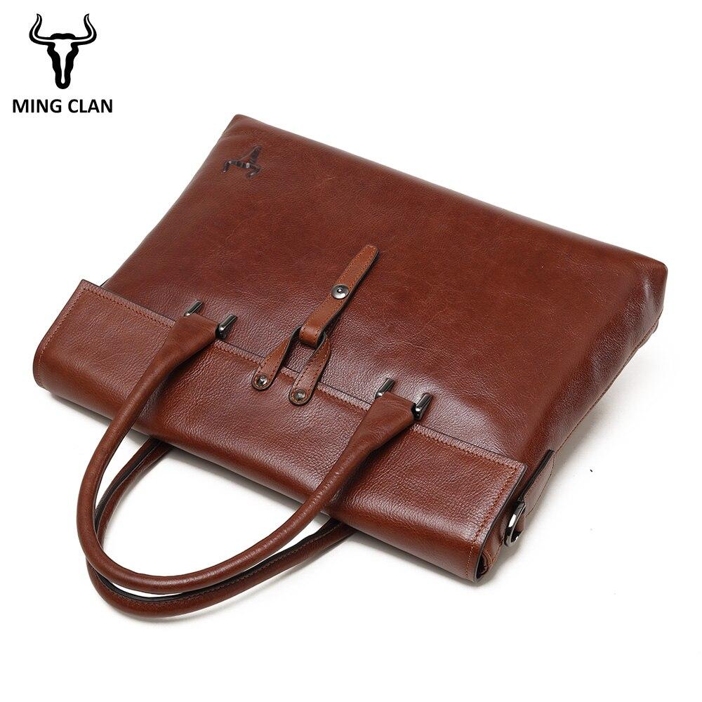 Schulter Fashion Echtes Laptop 2018 Kausal Messenger Männlichen Bags Männer Handtasche Marke Mingclan Aktentasche Leder Tasche qw0EO5a
