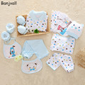 18 Pieces/set 2017 Spring New Baby Clothes Newborn Baby Clothing Gift Set Underwear Suits 100% Cotton Infant Sets