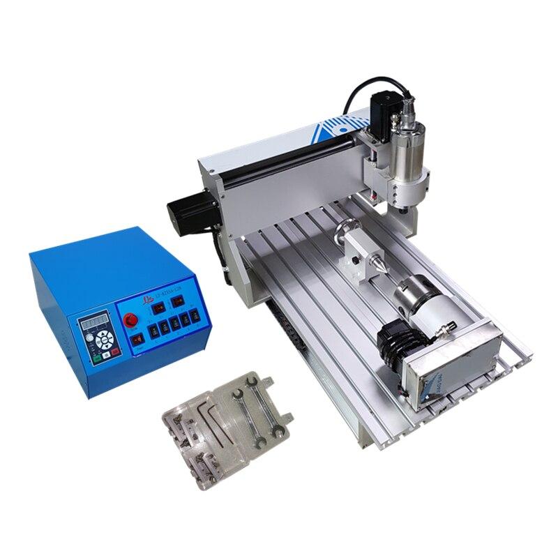 Port USB!! 3D CNC routeur 6040 4 axes CNC fraiseuse avec 1.5kw spinlde, interrupteur de fin de course, vis à billes CNC graveur + 4 pièces pinces